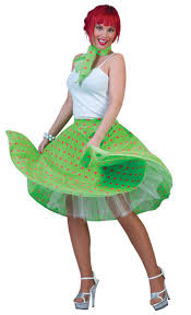 rock and roll skirt u0026 scarf fancy dress 50s grease ladies