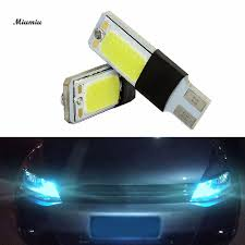miumiu car headlights 1 pair blue light color t10 led w5w cob