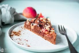 schokoladen pfirsich kuchen
