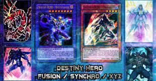 deck destiny hero post destiny soldiers fusion synchro xyz