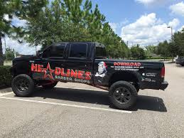Tampa, FL – Custom Truck Wrap On A Ford F-250 For Headlines Hair ...