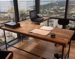 custom desk l shaped made of reclaimed wood and by urbanwoodgoods