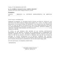 Carta De Renuncia A Contrato CAS Raiza