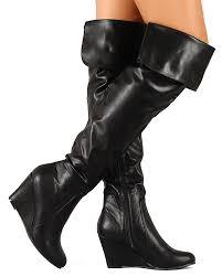 nature breeze bonnie 01hi new women leatherette folded thigh high