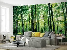 wohnzimmer riesiges fototapete wandtapete 368x254cm grün