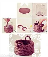 Diy Clay Basket Cute Decor Creative Craft Handmade Ideas On Easy Room Home Decoration
