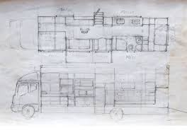 RV Were These Sketches That Laid Out The Finished Mobile Homes Floorplan Cabinetry And Plumbing Heating Systems Done By Joseph Tayyar
