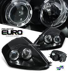 00 05 mitsubishi eclipse depo brand black housing projector headlights
