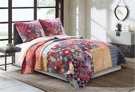Greenland Home Bedding by Samsara Quilt Set Gl 1610lmst Global Vintage Quilt Sets Bedding