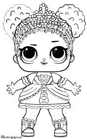 Surprise Dolls Coloring Pages Pixels Doll Party S Collection And Lol Colouring Unicorn