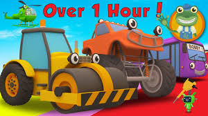 Rick The Road Roller And More Trucks For Children | Gecko's Garage ...