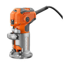 Woodworking Tools India Price by Ridgid 5 5 Amp Corded Compact Router R24012 The Home Depot