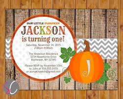 Pumpkin Patch Rochester New York by Our Little Pumpkin Turning One Birthday Party Invite Fall