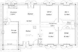 plan de maison plain pied 4 chambres sud habitat constructeur construction maison maison de plain