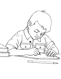 Finish Your Homework Coloring Page