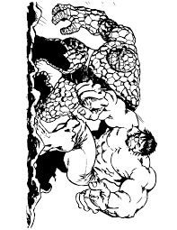 The Thing And Incredible Hulk Coloring Page