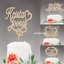 Wedding Cake Topper Personalized Mr And Mrs Rustic Wooden Name