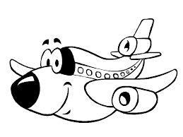 Funny Preschool Coloring Pages Airplane