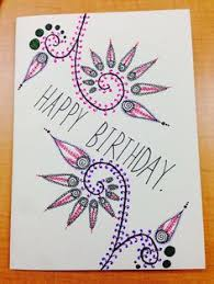 Drawn hand birthday card 8