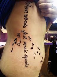 Music Quote Tattoo Design
