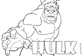 Printable Hulk Coloring Pages
