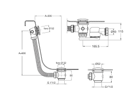 Bathtub Drain Trap Diagram by Shower Tray Baignoires Tub Drain Up U0026 Down Without Cable