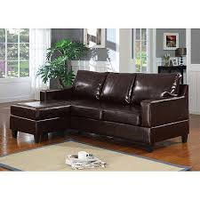 Walmart Leather Sectional Sofa by Vogue Bonded Leather Reversible Chaise Sectional Sofa Brown