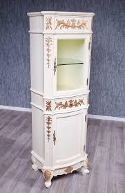 barock badezimmer hochschrank princess in creme weiß mit gold dekor