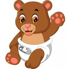 Illustration Of Cute Baby Bear Cartoon Premium Vector