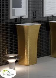 freistehendes standwaschbecken waschtischsäule gold design top ös