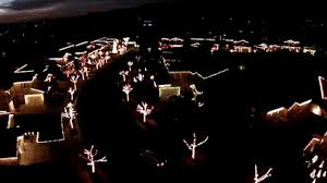 stunning drone footage shows changing light bulb at 1 500