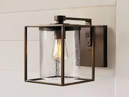 lights antique brass single l outdoor wall lighting
