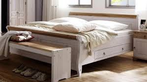 schlafzimmer oslo 4 tlg set kiefer massiv weiß antik 180x200