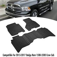 100 Ram Trucks 2014 OEM Dodge 15005500BLACK FRONT FLOOR MAT SET 2013