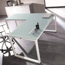 table bureau verre bureau verre blanc design pas cher nommé achat vente