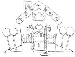 Christmas Gingerbread House Coloring Pages Detail Description