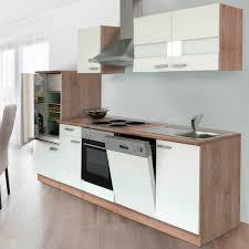 respekta küchenzeile ohne e geräte lbkb280esw 280 cm weiß eiche sonoma sägerau