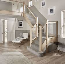 Glass Staircases - Neville Johnson Stairs Amusing Stair Banisters Baniersglsstaircase Create Unique Metal Handrailings With Pinnacle Staircase And Hall Contemporary Artwork Glass Banister In Best 25 Glass Balustrade Ideas On Pinterest Handrail Wwwstockwellltdcouk American White Oak 3 Part Dogleg Flight Frameless Stair Railing Elegant Safety Architecture Inspiring Handrails For Beautiful Amusing Stright Banister With Base Frames As Decor Tips Cool Banisters Ideas And Newel Detail In Brown