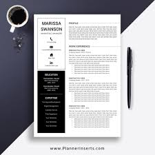 Professional & Clean Resume Template 2019, Cover Letter, Office Word  Resume, Simple CV Template, Creative & Modern Resume, Instant Download:  Marissa ...