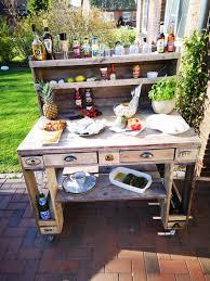 ᐅ grilltisch aus paletten outdoor küchen palettenmöbel