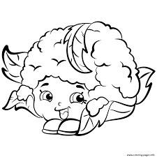 Cauliflower Chloe Shopkins Season 2 Coloring Pages