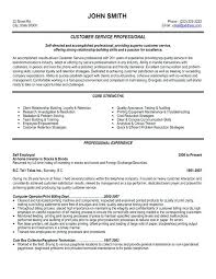 Samples Of Resumes For Customer Service Sample Representative Trend