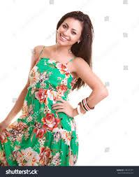 portrait beautiful indian summer dress stock photo 106435727