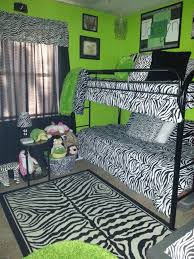 Zebra Print And Lime Green Bedroom