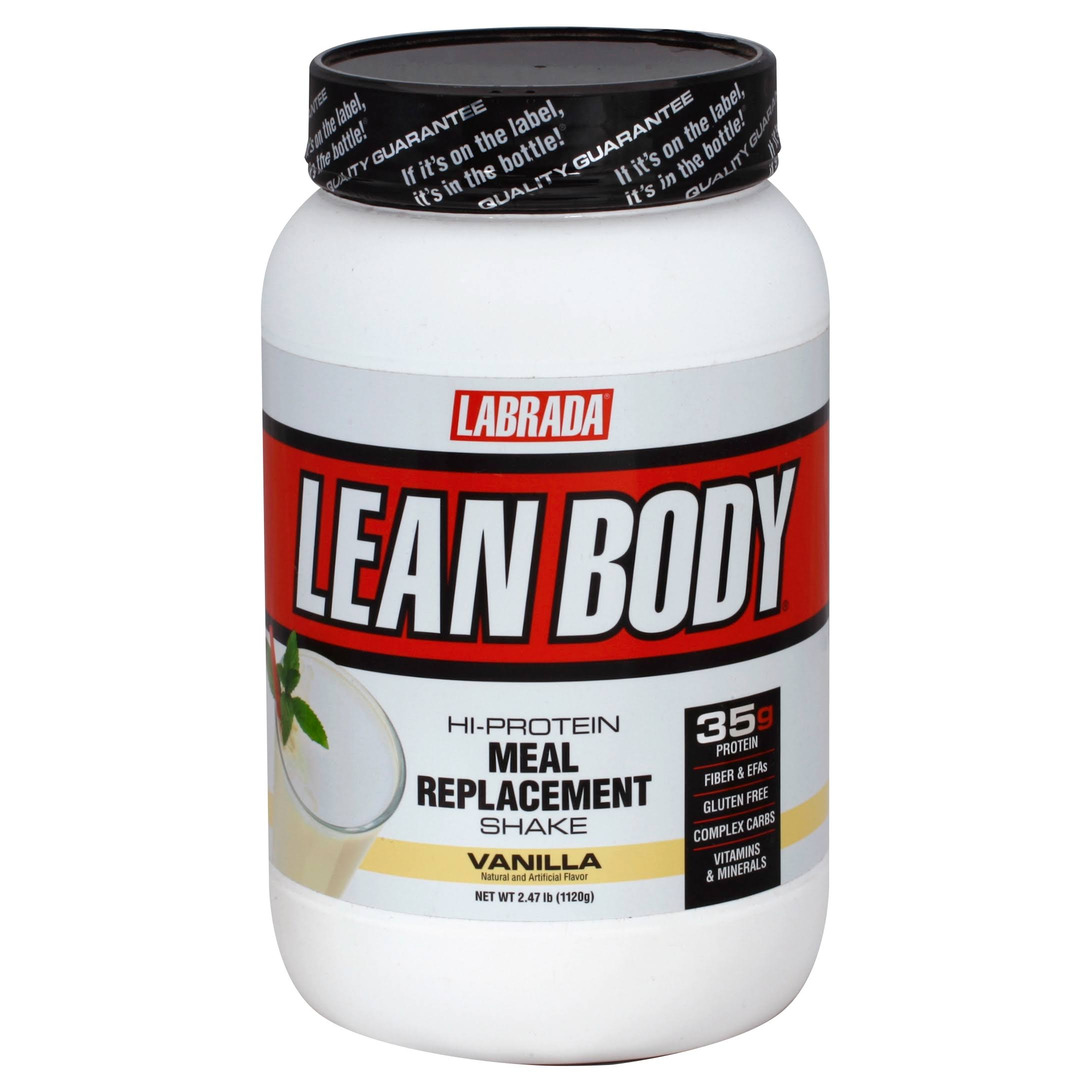 Labrada Nutrition Lean Body Hi-Protein Meal Replacement Shake - Vanilla, 2.47 lbs