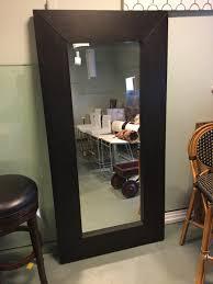 Ebony Wood Framed Mirror 37