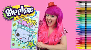 Coloring Breaky Crunch Shopkins GIANT Book Page Crayons