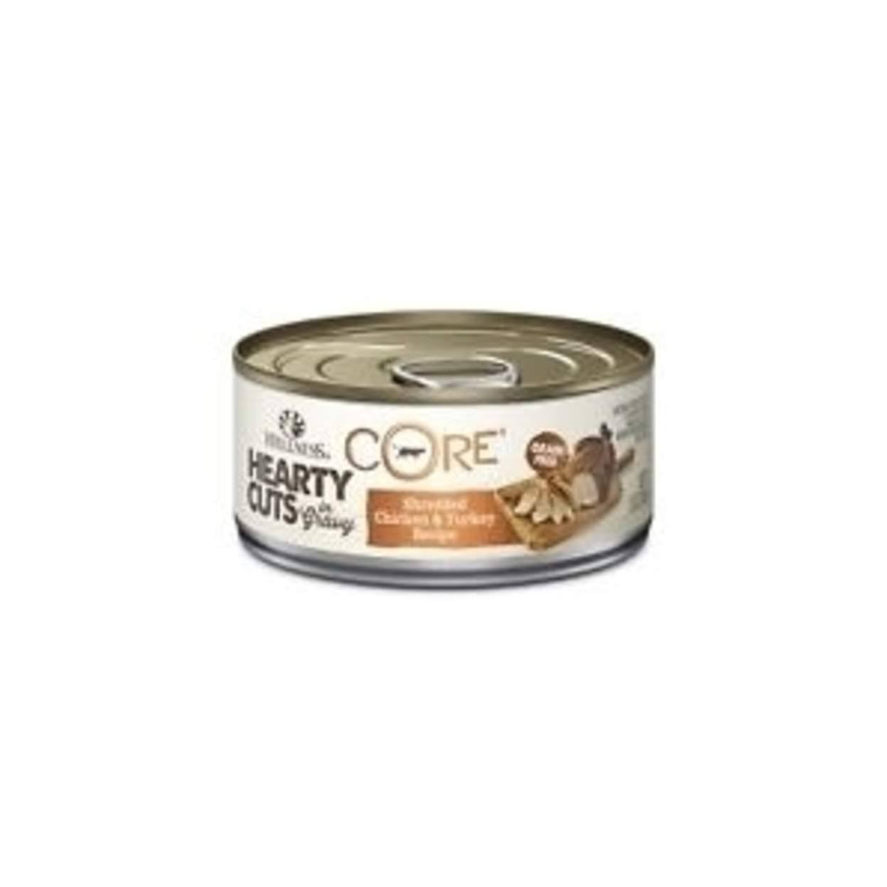 Wellness CORE Hearty Cuts Natural Canned Grain Free Wet Cat Food - Chicken & Turkey, 5.5 Oz