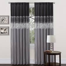 Gray Chevron Curtains Walmart by Curtains Breathtaking Impressive Black Grey Lace Curtains Walmart