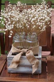 Cushty Rustic Wedding Table Decorations In